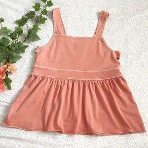 🍑Abound cotton summer square neck tank, peach